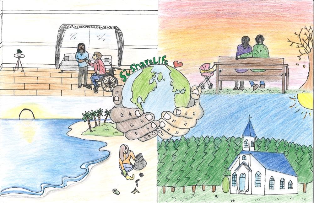 Winning poster by Sofia, grade 7 student from EEC Saint-Louis, CSC MonAvenir