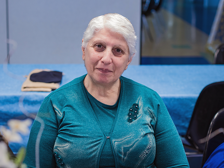 A participant of a seniors program at St. John Paul the Great Family Centre